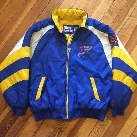 6e49a39106106 Pro Player Jackets & Coats | Vintage St Louis Blues Nhl Hockey ...